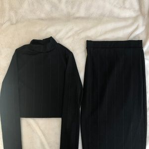 LuLu's Two piece Skirt Black Size Small